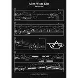 Steve Vai - Allen Water Kiss band  T-shirt india