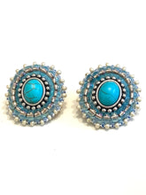 Load image into Gallery viewer, Turquoise Beaded earrings