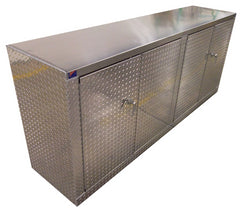 Heavy Duty Diamond Plate Aluminum Garage Cabinets Are The Big Brother To  The Trailer Cabinets.