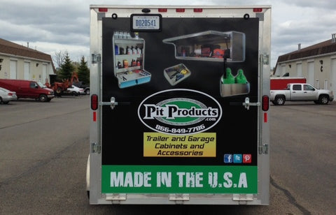 the pit products show trailer to be used for demonstration of pit products trailer storage cabinets and trailer storage solutions