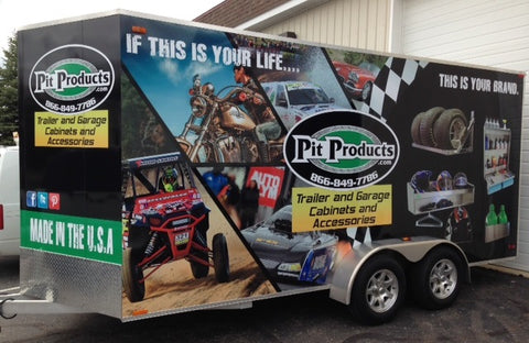 the pit products demonstration trailer