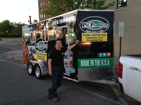 proud after the completion of our first event with the pit products show trailer!