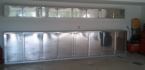 Aluminum Diamond Plate, Also Known As Aluminum Tread Plate Is An Excellent  Material Choice For Your New Garage Cabinets. With The Constant Moisture  And ...