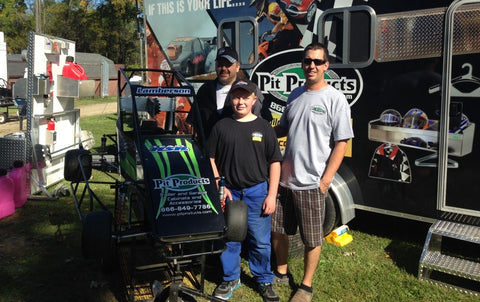 Quarter Midget Race Team from Jackson, Michgan Sponsored by Pit Products