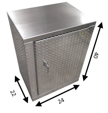 "Garage & Shop Base Cabinet - 2 foot - Deluxe, (24""L x 40""H  x 22""D), Aluminum"