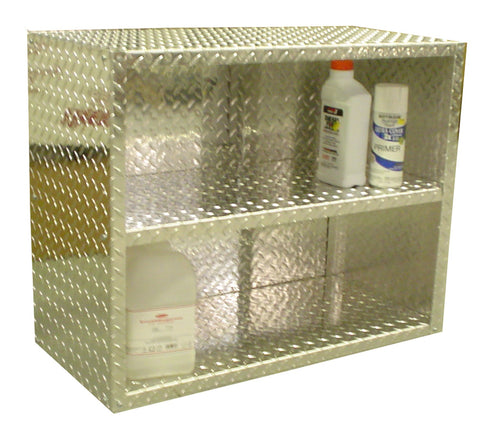 "Garage & Shop Storage Shelf, (30""L x 24""H  x 14""D) or (30""L x 48""H  x 14""D), Aluminum"