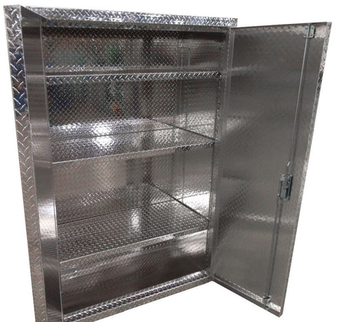 "Garage & Shop Storage Cabinet with Shelves - 6 Foot Tall, (48""L x 72""H  x 18""D or 22""D), Aluminum"