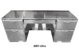 "Shop Desk, (72-1/2""L x 30-1/2""H  x 24-1/2""D), Aluminum"