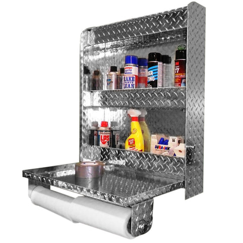"Trailer Work Station - Senior, (25""W x 30""H  x 6""D), Aluminum"