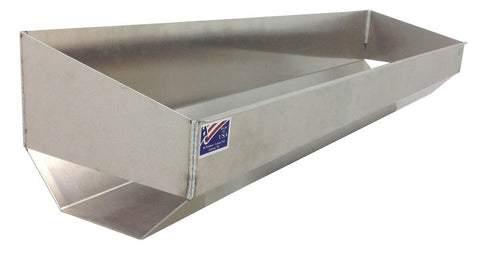 "Trailer Go Kart Tire Rack/Trough, (48""L x 9""H  x 11""D), Aluminum - SCRATCH N' DENT"