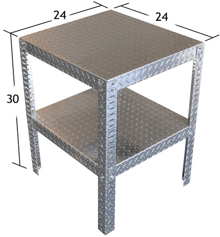 "Work Table, (40""L x 30""H  x 26""D) or (24""L x 30""H  x 24""D), or (24""L x 30""H  x 12""D), Aluminum"