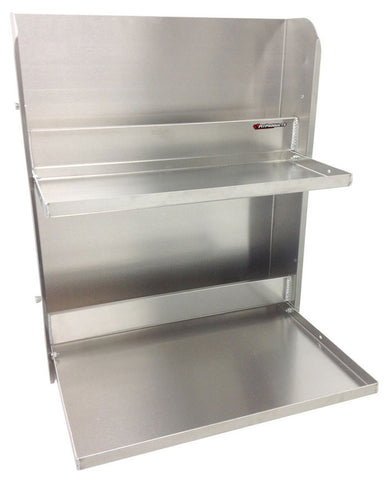 "Trailer Workstation - 2 Tray, (24""L x 6""W X 30""H) Aluminum"