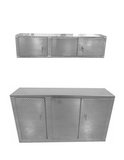 Garage & Shop Package, Deluxe Base Cabinet with Overhead Cabinet - 6 Foot, Aluminum