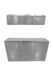 Package, Deluxe Base Cabinet with Overhead Cabinet - Aluminum