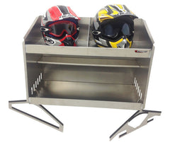 "Trailer, Garage or Shop Helmet Bay, Deluxe - 2 Mount, (28""L x 20""H x 16""D) Aluminum"