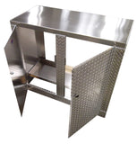 Trailer Package, Base Cabinet with Overhead Cabinet - 4 Foot, Aluminum
