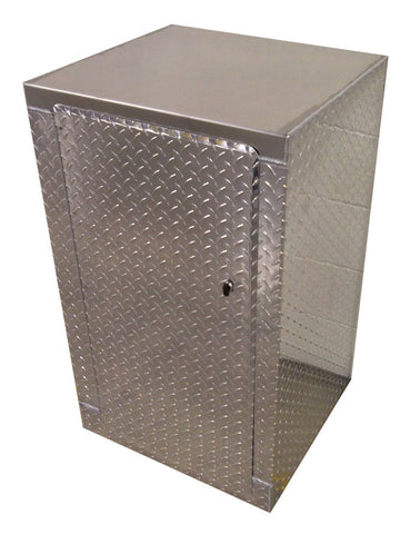 Trailer Package, Base Cabinet with Overhead Cabinet - 2 Foot, Aluminum