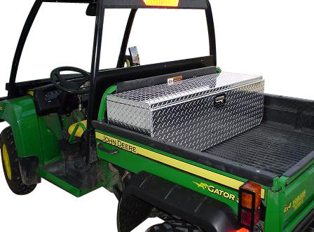 "XUV Side By Side Diamond Plate Tool Box - Floor Mount, (46""L x 14""H  x 14""D), Aluminum - SCRATCH N' DENT - #936 S&D"
