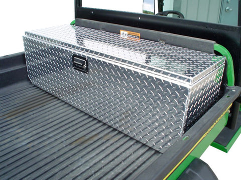 "XUV Side By Side Diamond Plate Tool Box - Floor Mount, (46""L x 14""H  x 14""D), Aluminum - SCRATCH N' DENT"