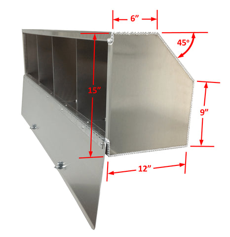 "Overhead Trailer Cabinet with Radius Back - (64""L x 15""H x 12""D), Aluminum"