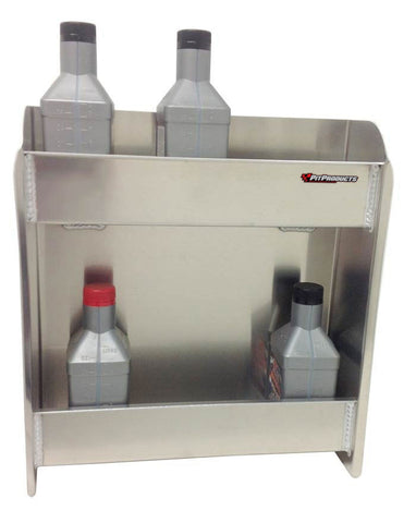 "Garage & Shop, Race or Work Trailer, Oil Storage Shelf (16¼""L x 18""H x 5½""D) or (24""L x 39""H x 5½""D), Aluminum"