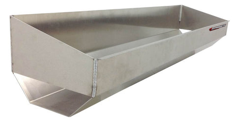 "Trailer Go Kart Tire Rack/Trough, (48""L x 9""H  x 11""D), Aluminum"