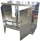 "Trailer Storage Cabinet - Base, 4 ft. (48""L x 40""H x 22""D), Aluminum"