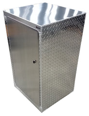"Trailer Storage Cabinet - 2 ft. (24""W x 40""H x 22""D), Base, Aluminum"