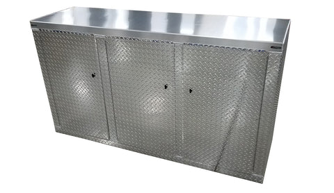 Trailer Package, Base Cabinet with Overhead Cabinet - 6 Foot, Aluminum
