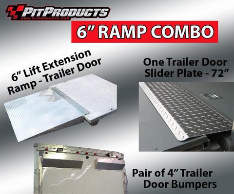 6 Inch Ramp, Door Risers and Slider Plates Package