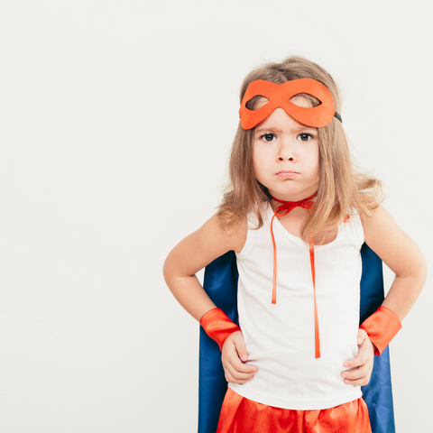 Child Dressed as Super Hero Upset to Use Nebulizer Treatment for Asthma