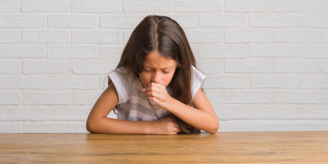 Child With Asthma Experiencing Wheezy Dry Cough Symptoms