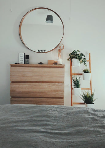 Bedroom With House Plants to Improve Air Quality