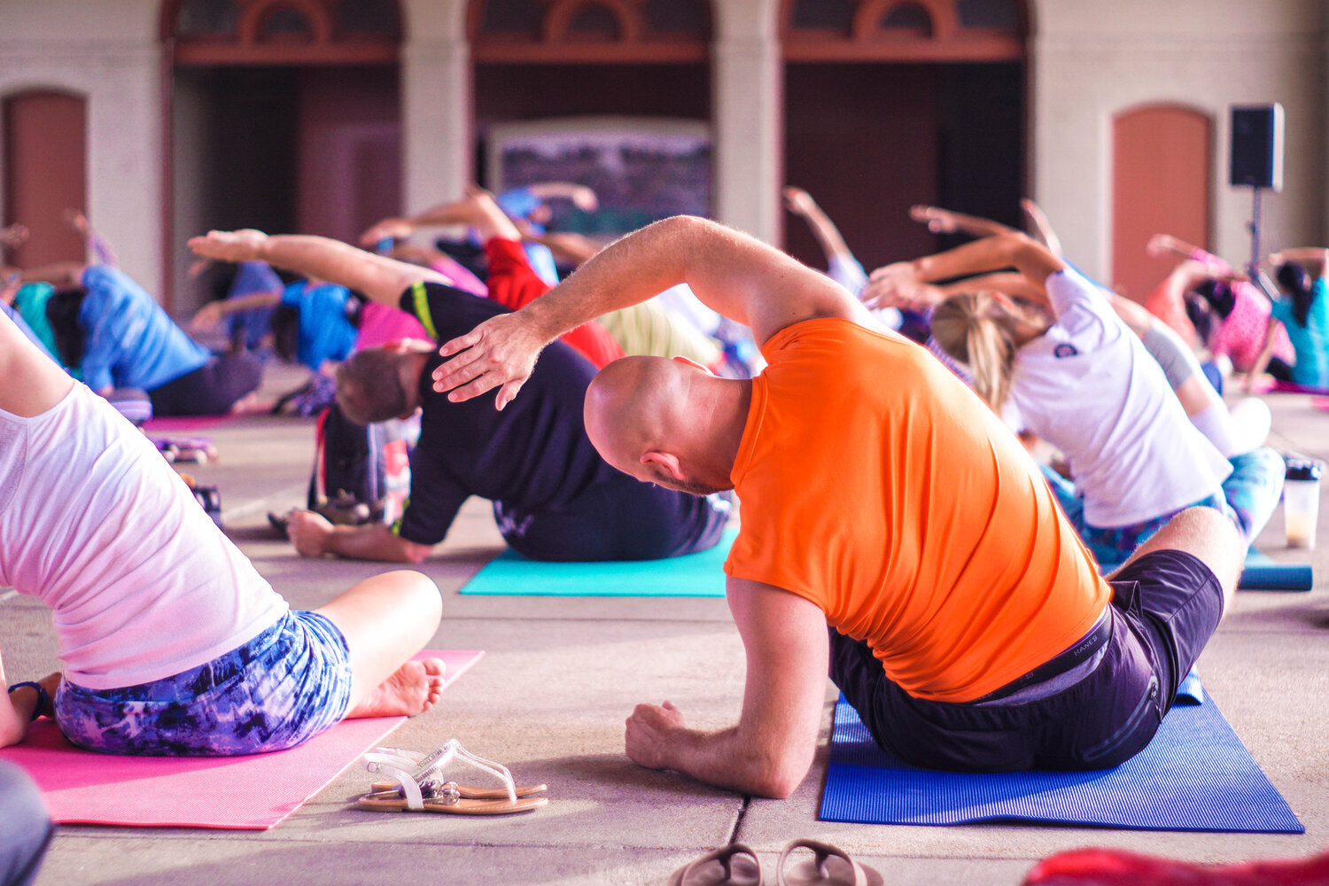 Group Participating in Best Yoga Exercises For Asthma