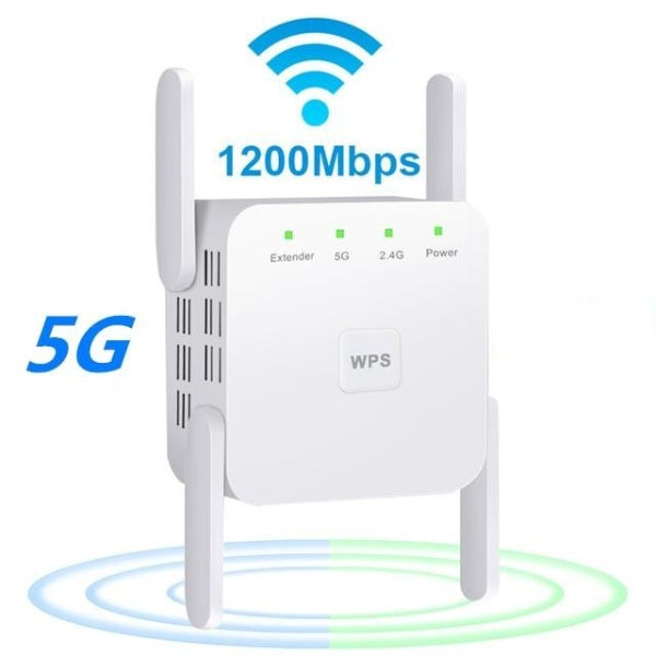 1200Mps Range Wifi Extender - Wireless 5G Wifi Booster Repeater