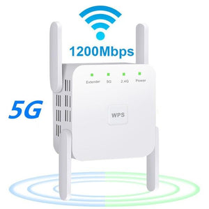 1200Mps Range Wifi Extender - Wireless 5G Wifi Booster Repeater (Set of 2)