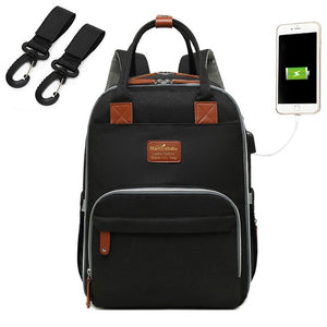 Luxurious Maternity Diaper Bag With USB Port Large