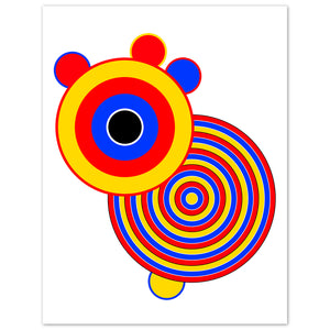 Balla (3) Contemporary abstract limited edition prints signed & numbered by the artist Bibi Viro