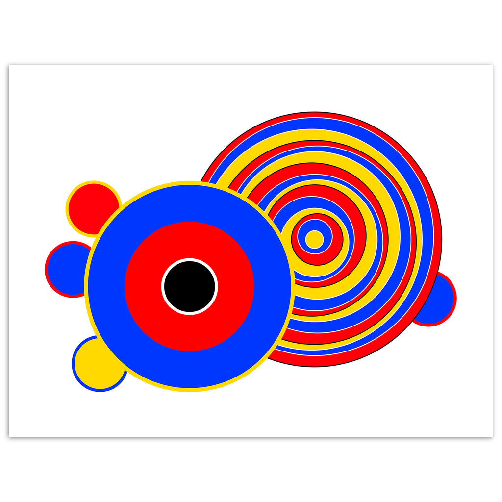 Balla (2) Contemporary abstract limited edition prints signed & numbered by the artist Bibi Viro