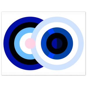 Blue Moon. Contemporary abstract limited edition prints signed & numbered by the artist Bibi Viro.