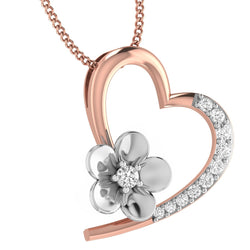 Rose Gold Plated Silver Heart Pendant