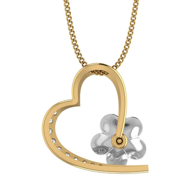 Yellow Gold Plated Silver Heart Pendant
