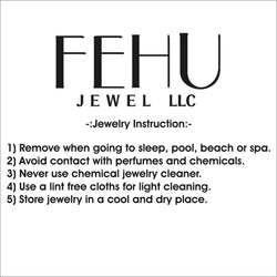 Round Stud Earrings for Unisex 14k Gold 1.12ct Round Diamond by Fehu Jewel
