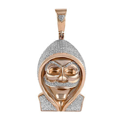 Anonymous Mask Hacker Pendant rose gold
