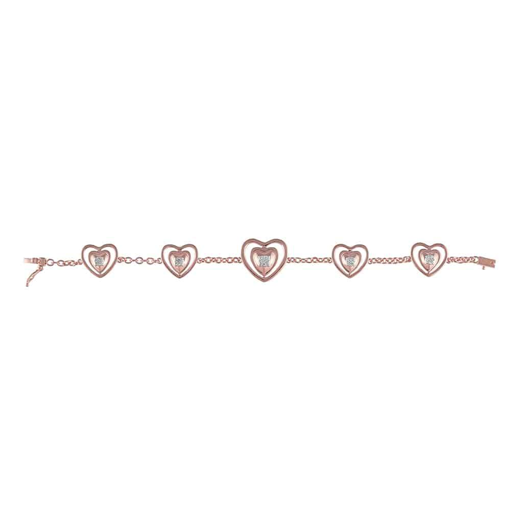 Heart Bracelet for Women rose gold
