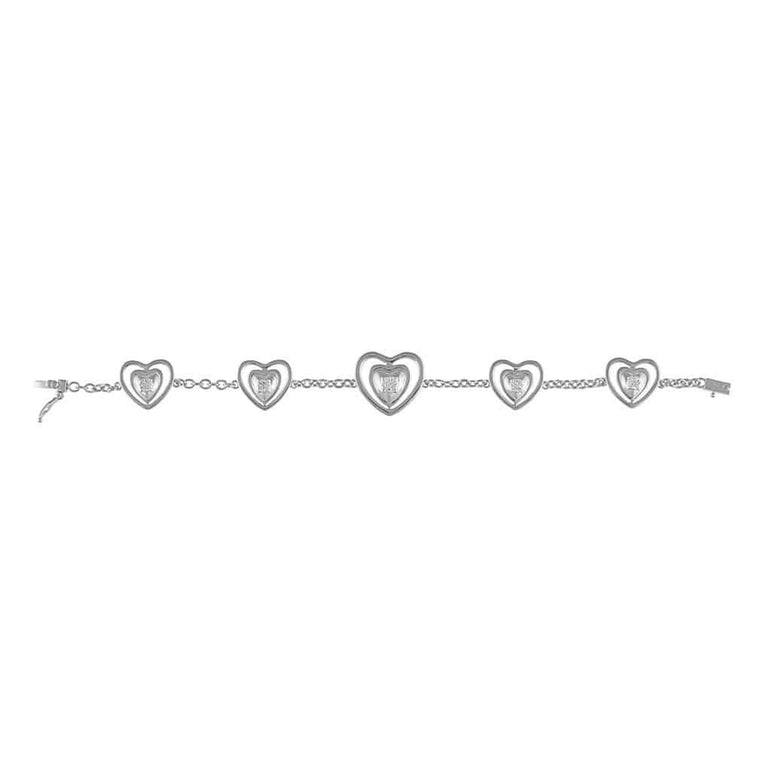 Heart Bracelet for Women white gold