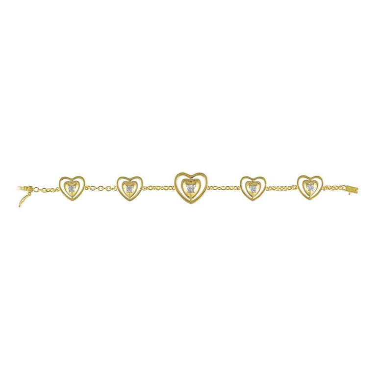 Heart Bracelet for Women yellow gold