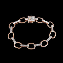 Chain Link Bracelet for Men rose gold