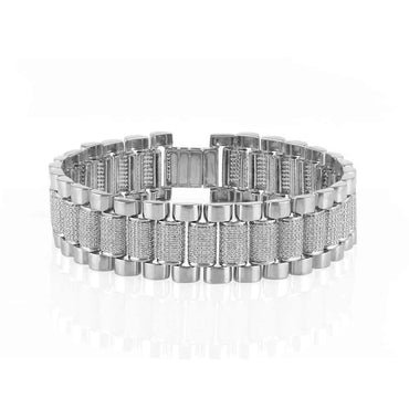 Mens Diamond Bracelet white gold