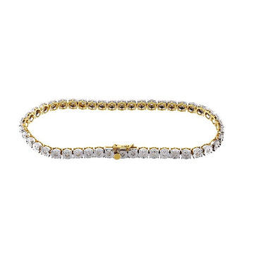 Diamond Tennis Bracelet 1.41Cts. Sparkling Round Diamonds